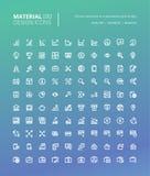 Sistema de la línea material iconos del diseño Fotos de archivo libres de regalías