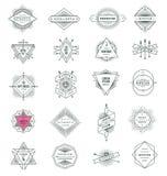 Sistema de la línea muestras y emblemas del inconformista Foto de archivo