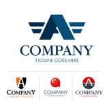 Sistema de la letra A del logotipo Fotografía de archivo