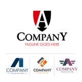 Sistema de la letra A del logotipo stock de ilustración