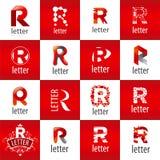 Sistema de la letra R del logotipo del vector ilustración del vector