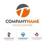 Sistema de la letra T del logotipo Fotografía de archivo
