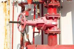 Sistema de la lucha contra la regadera y el fuego del agua Fotografía de archivo libre de regalías