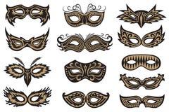 Sistema de la máscara del carnaval Fotografía de archivo