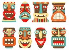 Sistema de la máscara tribal del tiki libre illustration
