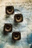 Sistema de la música Fotos de archivo