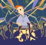 Sistema de la música de DJ Imagen de archivo libre de regalías