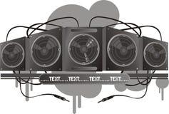 Sistema de la música del vector Imágenes de archivo libres de regalías