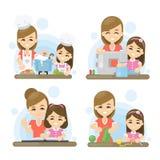 Sistema de la madre y de la hija libre illustration