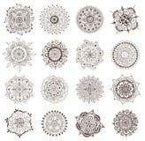 Sistema de la mandala de la alheña del tatuaje Imágenes de archivo libres de regalías