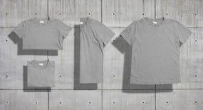 Sistema de la maqueta de la camiseta Imagenes de archivo