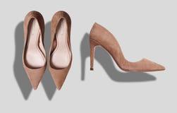 Sistema de la maqueta de los zapatos Imagen de archivo libre de regalías