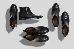Sistema de la maqueta de los zapatos Fotografía de archivo