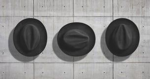 Sistema de la maqueta del sombrero Imágenes de archivo libres de regalías