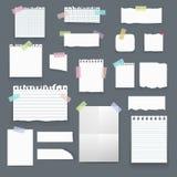Sistema de la maqueta vacía realista del cartel del papel del vector, nota Fotos de archivo libres de regalías