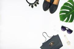 Sistema de la moda del ` s de las mujeres de accesorios Foto de archivo