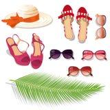 Sistema de la moda del verano libre illustration