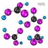 Sistema de la molécula del ácido carbónico Imagenes de archivo