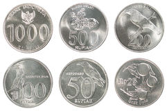 Sistema de la moneda de Indonesia Imagenes de archivo