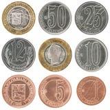 Sistema de la moneda de Venezuela Imágenes de archivo libres de regalías