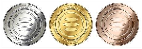 Sistema de la moneda de la moneda EDR del E-dinar stock de ilustración