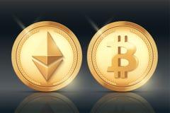 Sistema de la moneda de oro de Cryptocurrency libre illustration