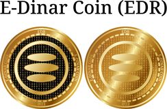 Sistema de la moneda de oro física EDR del E-dinar de la moneda ilustración del vector