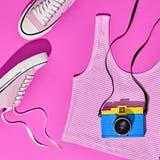 Sistema de la muchacha del inconformista del verano Diseño de la moda, mínimo Imágenes de archivo libres de regalías
