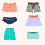 Sistema de la mujer de los pantalones cortos Foto de archivo