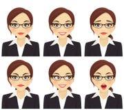 Sistema de la mujer de negocios Imagenes de archivo