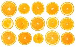 Sistema de la naranja de la fruta Imagen de archivo libre de regalías