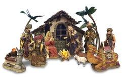 Sistema de la natividad de la Navidad Imagen de archivo libre de regalías
