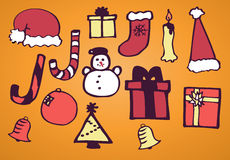 Sistema de la Navidad Foto de archivo libre de regalías