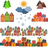 Sistema de la Navidad de imágenes libre illustration