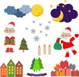 Sistema de la Navidad de imágenes del vector Imágenes de archivo libres de regalías