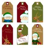 Sistema de la Navidad de la etiqueta Imágenes de archivo libres de regalías