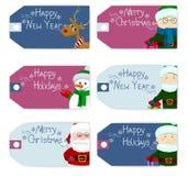 Sistema de la Navidad de la etiqueta Fotos de archivo libres de regalías