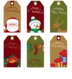 Sistema de la Navidad de la etiqueta Fotografía de archivo libre de regalías