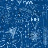 Sistema de la Navidad del garabato ilustración del vector