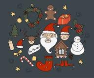 Sistema de la Navidad del vector Imagen de archivo