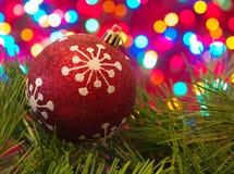 Sistema de la Navidad, juguete de la bola Foto de archivo