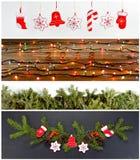 Sistema de la Navidad y de Años Nuevos de decoraciones para su diseño Imágenes de archivo libres de regalías