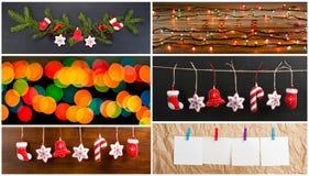 Sistema de la Navidad y de Años Nuevos de decoraciones para su diseño Fotos de archivo