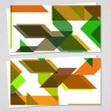 Sistema de la negocio-tarjeta del vector para su diseño Imagen de archivo