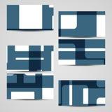 Sistema de la negocio-tarjeta del vector para su diseño Fotos de archivo libres de regalías