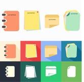 Sistema de la nota y del vector del papel Imagen de archivo