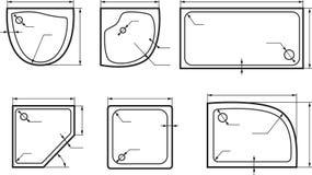Sistema de la opinión superior de los baños stock de ilustración