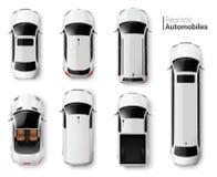 Sistema de la opinión superior de los coches libre illustration