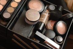 Sistema de la paleta profesional del maquillaje Fotografía de archivo