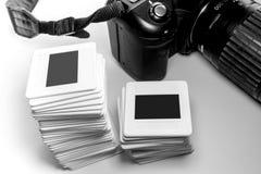 Sistema de la película de revocación vieja en marco plástico y parte de la cámara Foto de archivo